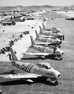 4th Fighter-Interceptor Group North American F-86 Sabres, South Korea, 1951