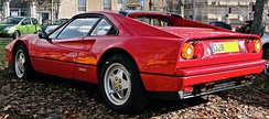 1989 328 GTB, equipped with ABS and convex wheel design.