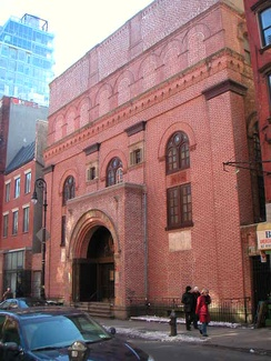 The First Roumanian-American Congregation on the Lower East Side of Manhattan. In 1998, the building was listed in the National Register of Historic Places.