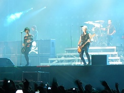 Green Day performing in 2013