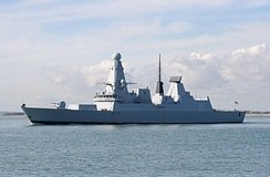 HMS Daring, a Type 45 guided missile destroyer of the Royal Navy.