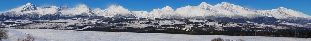 Panorama of the High Tatras