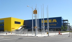 North side of the IKEA store before opening.