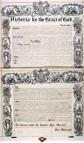 The letters patent issued by Queen Victoria creating the office of Governor-General, issued in 1900 as a part of the process of implementing the new federal constitution.