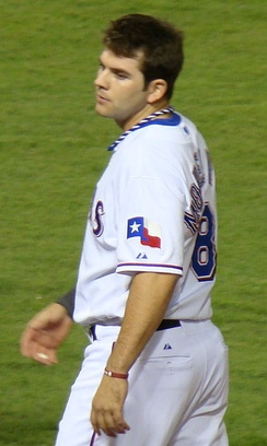 Mitch Moreland would lead the team in hits, batting average, and slugging against the Giants.