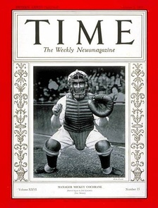 Mickey Cochrane in the cover of Time magazine in 1935