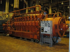 ALCO 18-251 engine being used as a backup electrical generator at a wastewater plant in Montreal.