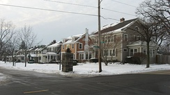 The Oakdale neighborhood after a January snow.