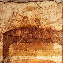 Female couple from a series of erotic paintings at the Suburban Baths, Pompeii
