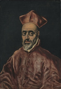 Portrait of cardinal Fernando Niño de Guevara by El Greco circa 1600 shows glasses with temples passing over and beyond the ears