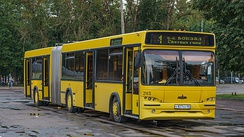 City bus in Pskov