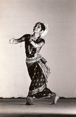 Sharmila Biswas performing Odissi in a dance festival in Kerala