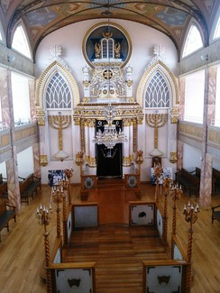 Interior of the Historic Synagogue Justo Sierra 71 located in the Historic Center of Mexico City.
