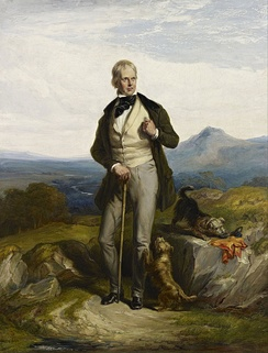 Sir Walter Scott, novelist and poet – painted by Sir William Allan