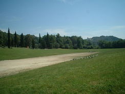 The stadium of ancient Olympia, home of the Ancient Olympic Games