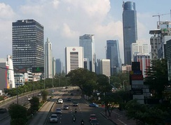 Sudirman Road, one of the main avenue of Jakarta