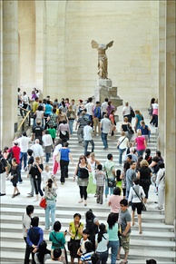 Tourists from around the world make the Louvre the most-visited art museum in the world.