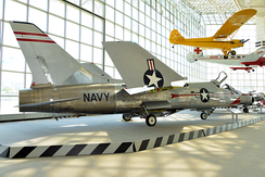 XF8U-1 Crusader prototype on display at the Museum of Flight
