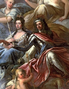 William III and Mary II reigned together for five years. William reigned on his own following Mary's death in 1694.
