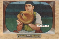 Hobie Landrith (pictured in 1955) was the Mets' first pick in the expansion draft