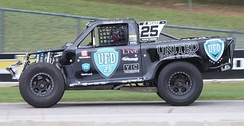 Mears racing in a Stadium Super Truck at Road America in 2018