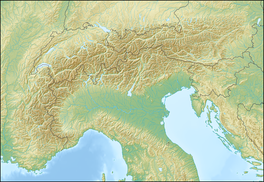 Ötzi is located in Alps