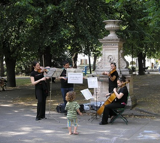 String quartet performing for the Mozart Year 2006 in Vienna
