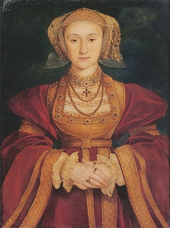 Portrait of Anne of Cleves by Hans Holbein the Younger, 1539