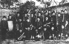 The Band of Freedom, a musical group of the National Renaissance that was active in Korçë, 1909.