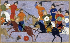 Battle of Yehuling against the Jin dynasty.