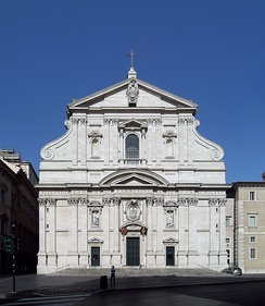 The Church of the Gesù, located in Rome, is the mother church of the Jesuits.