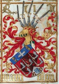 Coat of arms granted to King Afonso I of Kongo by King Manuel I of Portugal