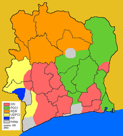 Election results of 2002 in Ivory Coast
