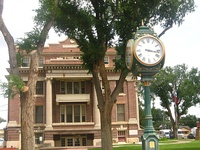 The Dallam County Courthouse in Dalhart, Texas.