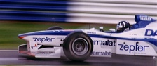 Damon Hill driving the Arrows A18 during the Grand Prix