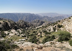 Dana Biosphere Reserve in south-central Jordan is a popular tourist attraction.