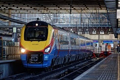 East Midlands Trains 222009 at London St Pancras with a service to Sheffield