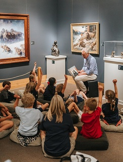 Fables, Feathers & Fur is a weekly reading and art-making program for children ages 3-6.