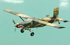 A Fairchild AU-23 Peacemaker in flight