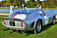 Rear view of 1962 250 GTO chassis (4153GT)