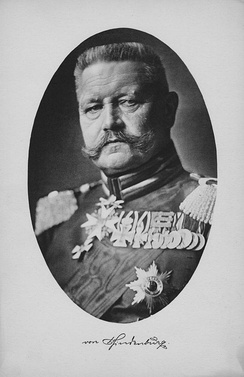 Field Marshal Hindenburg in 1914