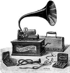 A Columbia type AT cylinder graphophone, first released in 1898[10]