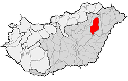 Location of Hortobágy as one of microregions in physical geography of Hungary