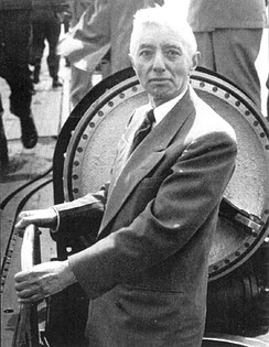 Admiral Hyman G. Rickover aboard the Nautilus