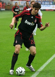 Kaká playing in Moscow with A.C. Milan