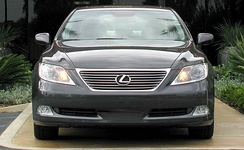 The Lexus LS pre-crash system uses grill-mounted radar sensors and windshield stereocameras.