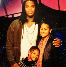 Waka Flocka with his wife Tammy Rivera and their daughter Charlie