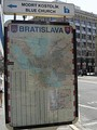 Map of Bratislava in city centre