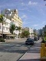 The Art Deco District at South Beach during the day.
