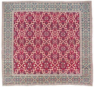 Millefleur 'Star-Lattice' carpet, 17th-early 18th century Mughal India